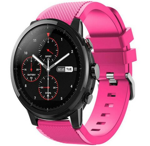 Curea ceas Smartwatch Samsung Gear S3, iUni 22 mm Silicon Pink